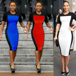 Wholesale 2013 Ladies Celeb Evening Fitted Formal Party Ladies Pencil Bodycon Plus Size Dress Size S XXL