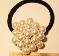 Wholesale Beautiful Lady Headbands Sweety Hair Accessories Pearls Round Bling Hair Band Adorable Trend All match Noble
