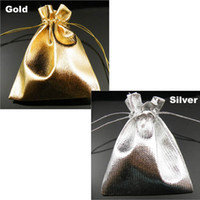 Wholesale Gold Or Silver Foil Organza Christmas amp Wedding Favor Gift Bags Pouch Jewelry Package