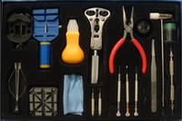 Wholesale Watch Tool in Watch Repair Tool Kit Screwdriver Band Case Open Tool Kit Horologe Wrist Watch H163