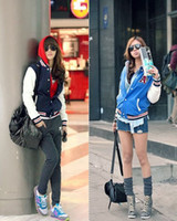 Wholesale New Lady s Baseball Shirt Jacket Jackets Baseball Uniform Coat CW01009