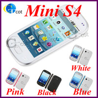 Wholesale S5292 mini S4 i9500 Android cell phone Android os Inch Capacitive Screen SC6820 GHz SmartPhone camera sim WiFi BT CHEAP PHONE