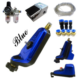 Wholesale Complete Tattoo Kit Neuma Style New Rotary Tattoo Machine Gun royalblue