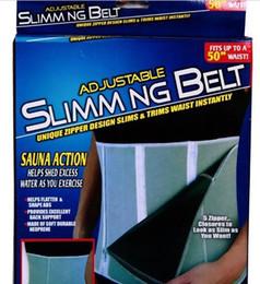 Wholesale Adjustable Slimming Belt Slim Away Weight Loss Belt Zippers and Sauna Action Fitness Belts Body Waist Shaper