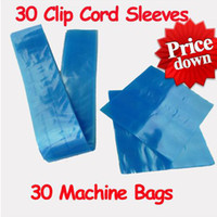 Wholesale 30 Clip Cord Covers Tattoo Machine Gun Bags Supply Kit