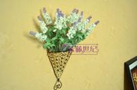 Wholesale Steel Flower basket Sector Flower basket hanging Flower basket gaily decorated basket