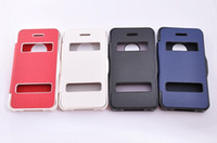 Wholesale PU Leather Battery Flip Case Cover For Apple iPhone4s DHL EMS