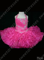 Wholesale Halter Top Little Rosie Cupcake Dress Lovely Little Rosie hot pink Glitz Toddler Pageant Dress