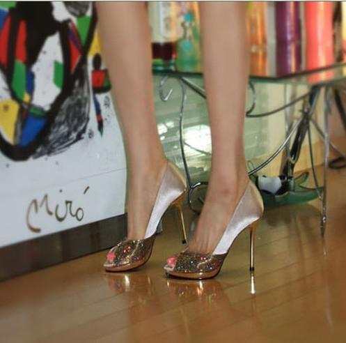 New Arrival Ladies Sexy Peep Toe High Heels Shoes Sweetness ...