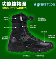 Wholesale SWAT combat boots black army boots special forces tactical desert boots high top combat boots