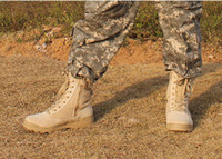 Wholesale SWAT army boots combat boots Sand color special forces tactical desert boots high top combat boots