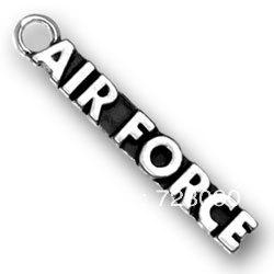Wholesale free ship a antique silver air force cheap jewelry charms