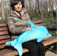 Aquatic Animals Blue Plush New 76# light blue Dolphin soft toY stuffed plush animal Cushion hold pillow stuffed toy Free shipping
