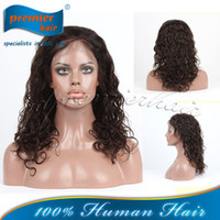 Wholesale Fashion Malaysian Curl Indian Remy Human Hair quot quot B Lace Front Wig For Lady