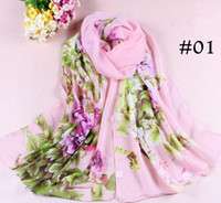 Wholesale 2013 Women s Lock Scarf Fashion Wild silk Stone Peony Printing Chiffon Scarves Shawl Valentine s Day Gift