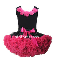 TuTu Summer Pleated Hot SalePink Flower Top + skirt set,baby Dress, pettiskirt,party dress, tutu Dress, Girls Tutu Skirt,kids dress,children dress