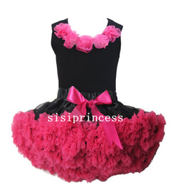 Wholesale Hot SalePink Flower Top skirt set baby Dress pettiskirt party dress tutu Dress Girls Tutu Skirt kids dress children dress