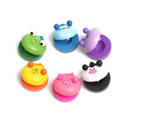 Wholesale Children s Musical Percussion Instrument Wooden Castanet Preschool Toy Education