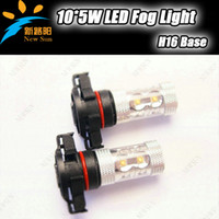 Wholesale Super brightness High power OSRAM chips led fog light H16 W auto led lamp led vehicle bulb sides lighting