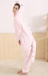 Wholesale RETAIL Kigurumi Pajamas Pyjamas Animal suits Cosplay Costume Garment Coral fleece pink dinosaur sleepwears