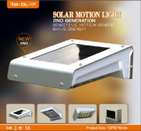 New product waterproof 16LED solar motion light with recharg...