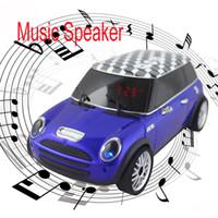 Wholesale AN M1 Mini Portable Color Car Loudspeaker Music Speaker TF USB FM Radio LED Stereo for iPhone4 S iPhone5 iPod Samsung S4 SIV i9500