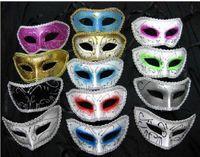 Wholesale 100pcs plastic halloween man costume mask masquerade fac facial eye masks party Venice