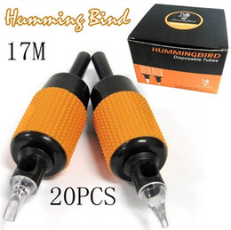 Wholesale 20x17M Tattoo Machine Grips Humming Bird Tube Sterilized quot mm MAG Tips Size Kits Supply