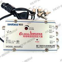 Wholesale LLFA657 way FL9 Cable Splitter CATV US Plug Broadband Booster TV Signal Amplifier
