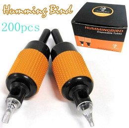 Wholesale Hot Pro x Sterilized Tattoo Tube Grips Humming Bird Assorted quot mm Tattooing Kits Supply