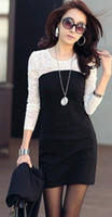 Mini Sheath Round 2013 women ladies sexy cotton lace dress maxi casual dress S M L XL for spring and autumn promotio