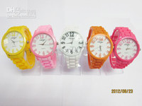Wholesale hot fashion color women quartz cartoon womens silicone candy sport cheap children wrist watches girl