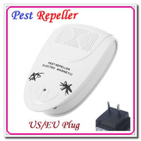 Wholesale High quality V EU Plug Home Electro Magnetic Ultrasonic Electronic Pest Mouse Bug Mosquito Insect Repeller Dropshipping