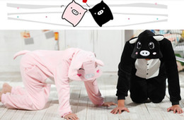 Pig Kigurumi Cosplay Pajamas Party Black Pink Pig for halloween and christmas party costumes Animal Performance from pig costume kigurumi manufacturers