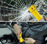 Wholesale 4 in Car Safety Hammer LED Flashlight Torch Belt Cutter Escape Emergency Tools