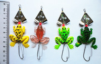 Jigs soft lures  hot sale spinner spoon frog fishing lure Lures soft Bait Soft Plastic soft insect Fishing Lures Bait