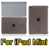 Wholesale For iPad Mini Magnetic Front Smart Cover Crystal Hard Back Case For iPad Mini inch Smart cover