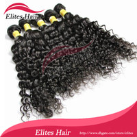 Wholesale Queen Mix Length quot quot Brazilian Virgin Remy Human Hair Curly Deep wave Weft Weave DHL Ship BH404