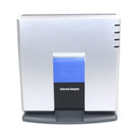 Superiore di nuovo stile di Linksys PAP2T-NA di VoIP SIP ATA Phone Adapter PAP2T + Tracking no D0252D