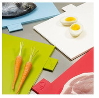 Wholesale 48set the multi cooking plastic colored chopping board set cut boards cutting blocks for the kitchen kitchenware