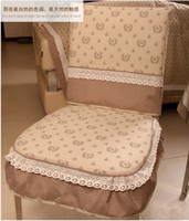 Wholesale New Arrival Fashion Quality Home Textile Embroidered Country Style Dining Chair Cover Set Chair back cover chair cushion