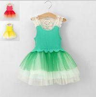 TuTu Summer A-Line Wholesales 2013 summer new Baby, Kids Clothing Children's girls skirts dance chiffon lace top jumper tutu dress JO-339