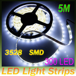 "Waterproof 10M(32.8"") 3528 SMD 300 LED Flexible Strip Lights Light Car Home Garden White LED Light Strips Free shipping LED-A001B"