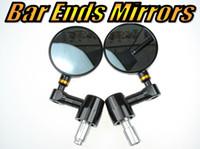 aluminum round bars - Folding Bar End Motorcycle Mirror Motorbike quot CNC Aluminum Silver quot Round