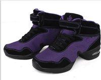 Women aerobic dance shoes - dancing shoes high layer gym shoe purple dance sneakers for women Aerobic shoes salsa shoes elevator shoe dancing shoes