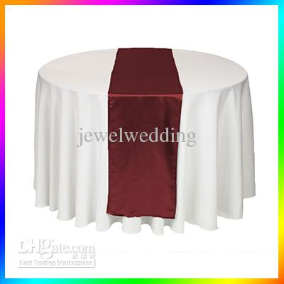 wedding  Wine Table  Cloth Wholesale   Wedding table red Satin Red runner Runners 5  Runner