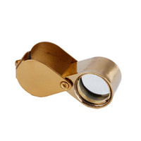 Wholesale Mini Jewelry Loupe Magnifier Glass X mm Golden