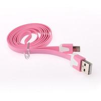 3 pies de Promoción de micro universal del adaptador USB cable plano colorido de fideos cable de sincronización de datos para Samsung Galaxy S3 Blackberry