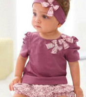 Cheap New Arriving 3pcs lot Baby Clothing Set Baby Clothes free shipping baby wear H072