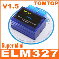 Wholesale Super Mini ELM327 ELM V1 Bluetooth OBD2 OBD II CAN BUS car auto Diagnostic Scanner Tool K497